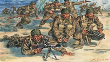 Model Kit figurky 6064 - WWII - BRITISH COMMANDOS (1:72)