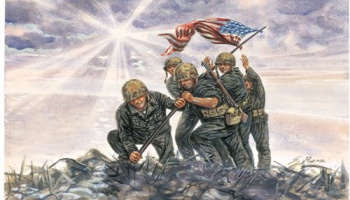 Model Kit figurky 6098 - IWO JIMA FLAG RAISERS (1:72)