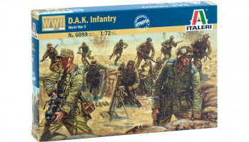 Model Kit figurky 6099 - WWII - D.A.K. INFANTRY (1:72)