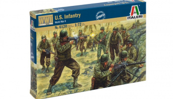 Model Kit figurky 6120 - WWII - AMERICAN INFANTRY (1:72)