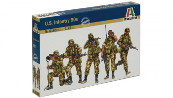Model Kit figurky 6168 - U.S. Infantry (1980s) (1:72)