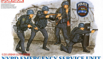 Model Kit figurky 6506 - NYPD EMERGENCY SERVICE UNIT (1:35)