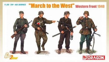 Model Kit figurky 6703 - MARCH TO THE WEST, WESTERN FRONT (1:35)