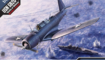 "Model Kit letadlo 12324 - SB2U-3 ""Battle of Midway"" (1:48)"