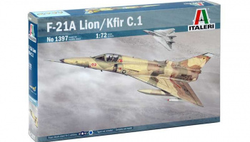 Model Kit letadlo 1397 - F-21A LION/KFIR C.1 (1:72)