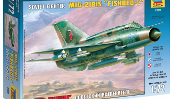 Model Kit letadlo 7259 - MIG-21 BIS Soviet Fighter (1:72)
