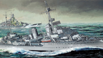 German Z-39 Class Destroyer (SMART KIT) (1:350) Model Kit 1037 - Dragon