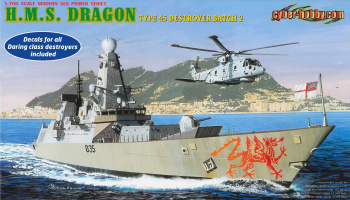 H.M.S. Dragon Type 45 Class Destroyer (1:700) Model Kit loď 7109 - Dragon