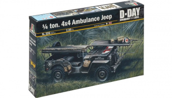 Model Kit military 0326 - 1/4 TON. 4x4 AMBULANCE JEEP (1:35) – Italeri
