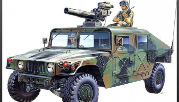 Model Kit military 13250 - M-966 HUMMER WITH TOW (1:35) – Academy