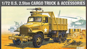 Model Kit military 13402 - US CARGOTRUCK & ACCESSORY (1:72)