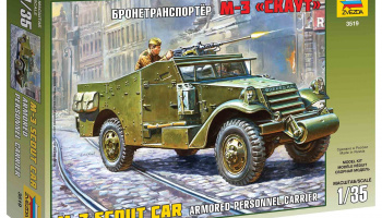 Model Kit military 3519 - M-3 Armored Scout Car (1:35)