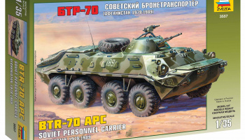 Model Kit military 3557 - BTR-70 APC (Afghan Version) (1:35)- Zvezda