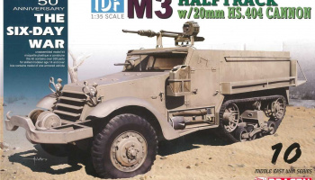 Model Kit military 3598 - IDF M3 Halftrack w/20mm HS.404 cannon (1:35)