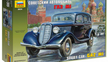 GAZ M1 Soviet Car (1:35) Model Kit 3634 - Zvezda
