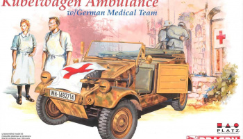 KUEBELWAGEN AMBULANCE w/ GERMAN MEDICAL TEAM (1:35) Model Kit 6336 - Dragon