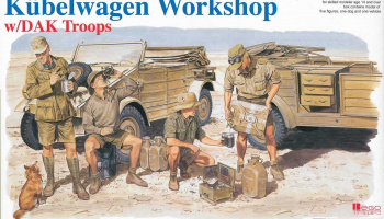 Model Kit military 6338 - Kubelwagen Workshop w/DAK Troops (1:35)