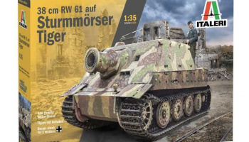 38 cm RW 61 auf STURMMORSER TIGER (1:35) Model Kit 6573 - Italeri