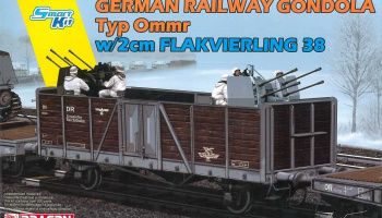 Model Kit military 6912 - GERMAN RAILWAY GONDOLA w/2cm FLAKVIERLING 38 (1:35)