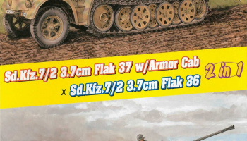 Model Kit military 6953 - (2 in 1) Sd.Kfz.7/2 3.7cm FlaK 37 w/Armor Cab or Sd.Kfz.7/2 3.7cm FlaK 36 (1:35) - Dragon