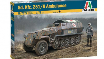 Sd.Kfz. 251/8 Ambulance (1:72) Model Kit 7077 - Italeri