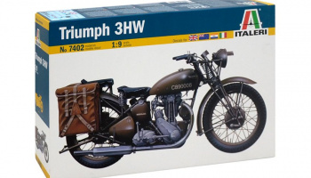 TRIUMPH 3HW (1:9) Model Kit 7402 - Italeri