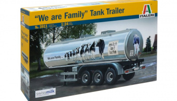 "CLASSIC TANK TRAILER ""We are family"" (1:24) Model Kit 3911 - Italeri"