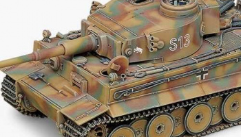 Model Kit tank 13239 - GERMAN TIGER-I (EARLY VERSION) (1:35)