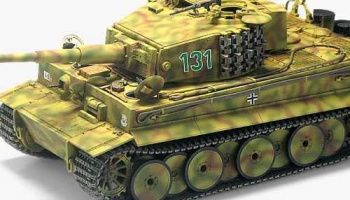 "Model Kit tank 13287 - TIGER-I MID VER. ""Anniv.70 Normandy Invasion 1944"" (1:35)"
