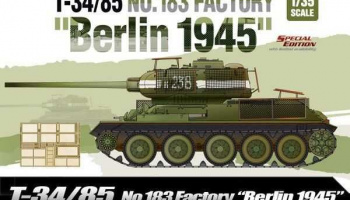 "Model Kit tank 13295 - T-34/85 No.183 Factory ""Berlin 1945"" (1:35)"