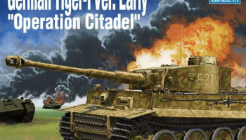"Model Kit tank 13509 - German Tiger-I Ver. EARLY ""Operation Citadel"" (1:35)"