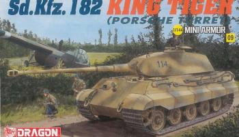 Model Kit tank 14114 - Kingtiger Porsche (1:144)
