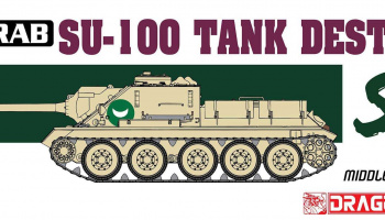 Model Kit tank 3572 - Egyptian Army SU-100 Tank Destroyer - The Six Day War (1:35)