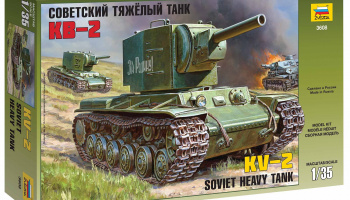 Model Kit tank 3608 - Soviet heavy tank KV-2 (1:35)