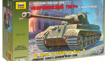 Model Kit tank 3616 - Kingtiger Porsche (1:35)