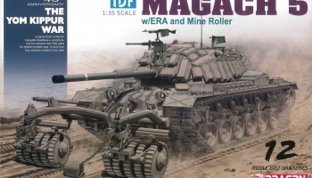 Model Kit tank 3618 - IDF Magach 5 w/ERA and Mine Roller (1:35)