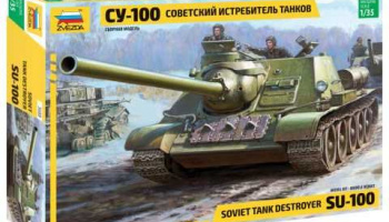 Model Kit tank 3688 - Soviet S.P.Gun SU-100 (new molds) (1:35)