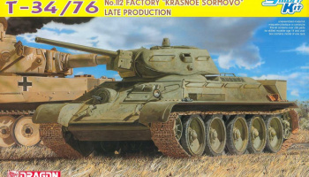 "Model Kit tank 6479 - T-34/76 No.112 FACTORY ""KRASNOE SORMOVO"" LATE PRODUCTION (SMART KIT) (1:35)"