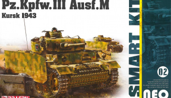 Pz.Kpfw.III Ausf.M Kursk 1943 (Neo Smart Kit) (1:35) Model Kit tank 6521 - Dragon