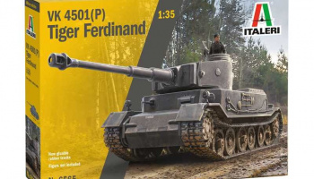 VK 4501(P) Tiger Ferdinand (1:35) Model Kit tank 6565 - Italeri