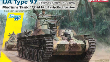 "IJA Type 97 Medium Tank ""Chi-Ha"" Early Production (Smart Kit) (1:35) Model Kit 6870 - Dragon"