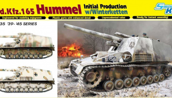 Model Kit tank 6876 - Sd.Kfz.165 Hummel Initial Production w/Winterketten (1:35)
