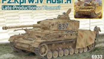 Model Kit tank 6933 - Pz.Kpfw.IV Ausf.H Late Production w/Zimmerit (2 in 1) (1:35) - Dragon