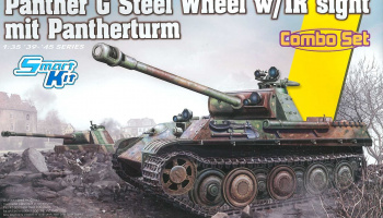 Panther Ausf.G Late Production (Steel Wheel) mit Pantherturm (1:35) Model Kit tank 6941 - Dragon