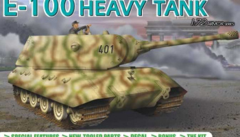 Model Kit tank 7256 - GERMAN HEAVY TANK E-100 (1:72)