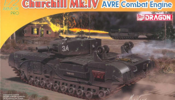 Model Kit tank 7521 - Churchill Mk.IV AVRE Combat Engine (1:72)