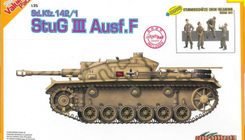 Model Kit tank 9101 - Sd.Kfz.142/1 StuG.III Ausf.F + BONUS (w/Magic Track) (1:35)