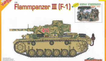 Model Kit tank 9113 - FLAMMPANZER III (F-1) + GERMAN STURMPIONER (1:35)