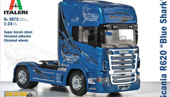 "SCANIA R620 ""BLUE SHARK"" (1:24) Model Kit Truck 3873 - Italeri"