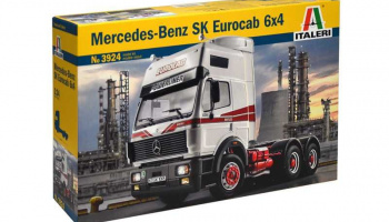 MERCEDES-BENZ SK EUROCAB 6x4 (1:24) Model Kit Truck 3924 - Italeri